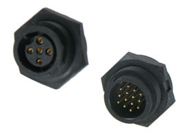 C-Size Waterproof Panel Mount Connector