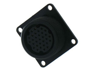 Plastic Rear Mount Square Connector