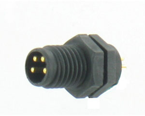 Plastic Male Panel Rear Mount Connector