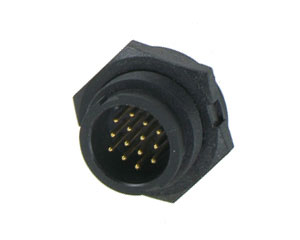 Male Rear Mount Lock Type Connector