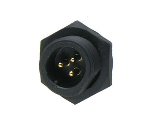 Male Rear Mount Screw Type Connector