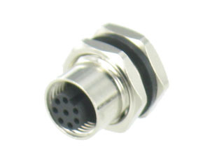 Metal Female Rear Mount Panel Connector