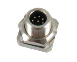 Metal Male Rear Mount Panel Connector