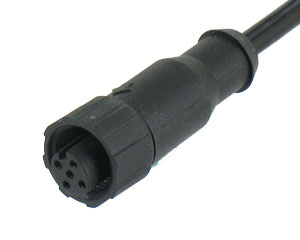 Plastic Female Molded Cable (Screw Nut)