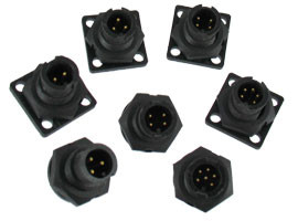 A-Size Waterproof  Panel Mount Connector