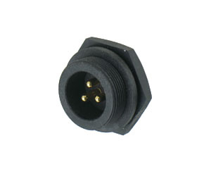 Male Front Mount Screw Type Connector