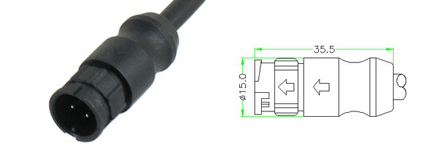 Male  Molded Cable