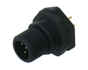 Plastic Male Rear Mount Panel Connector